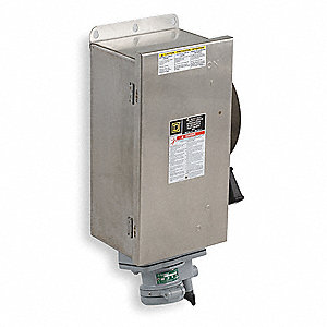 Safety Switch, 3, 3R, 4, 4X, 5, 12 NEMA Enclosure Type, 100 Amps AC, 60 HP @ 600VAC HP
