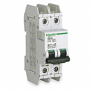 Miniature Circuit Breaker, 8 Amps, C Curve Type, Number of Poles: 2