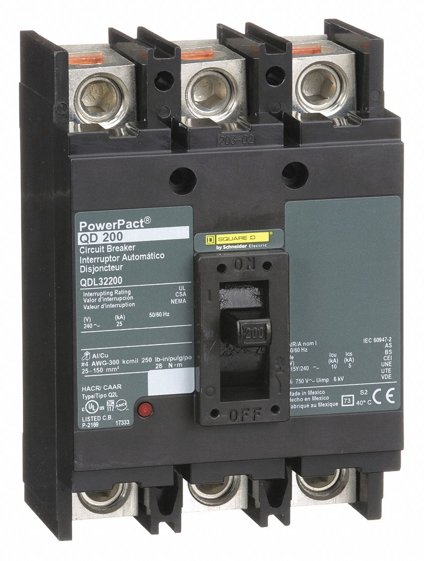 Square D 200 Amp Circuit Breaker QDL32200 Working When Removed .. 2 available