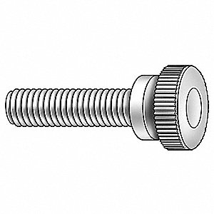 THUMB SCREW,KNRL,1/4-20X1/2 L,PK10