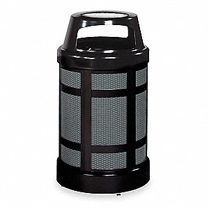38 gal. Architek®, Black, Steel, Ash/Trash Can