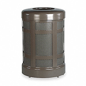 38 gal. Round Bronze Trash Can