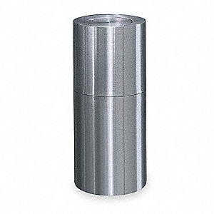 15 gal. Round Silver Trash Can