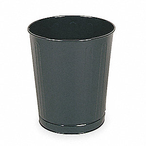 6-1/2 gal. Round Black Fire-Safe Trash Can