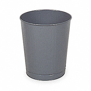 6-1/2 gal. Round Gray Fire-Safe Trash Can