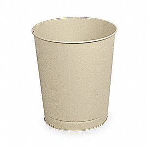 6-1/2 gal. Round Beige Fire-Safe Trash Can