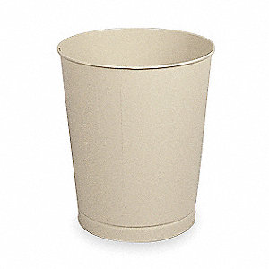 11 gal. Round Almond Open-Top Trash Can