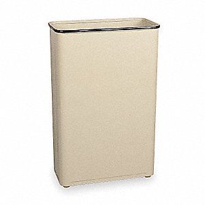 Trash Can,Rectangular,24 gal.,Almond