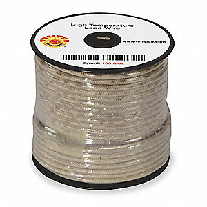 16 AWG MG High Temperature Lead Wire, Nickel Clad Copper, 600VAC, Natural, 100 ft.