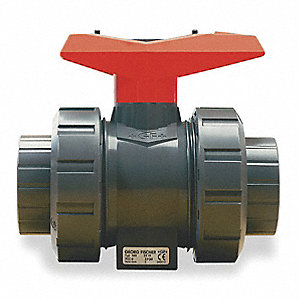 PVC Ball Valve,Union,Socket/FNPT,3/8 in
