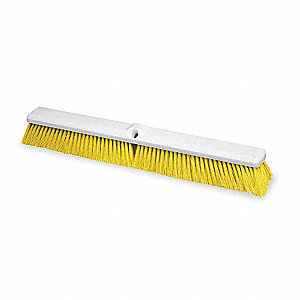 Yellow Stiff Bristle Broom Head
