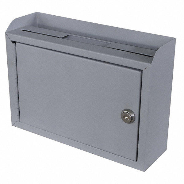 grainger approved suggestion box steel gray 3 in d