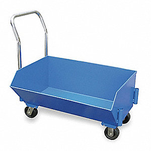 Blue Low Profile Hopper Truck, 9.5 cu. ft. Capacity, 1000 lb. Load Capacity