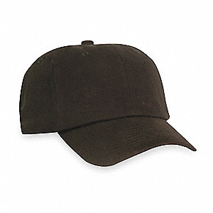Black Cotton With Thermoplastic Inner Shell Vented Bump Cap, Style: Baseball Style, Fits Hat Size: O