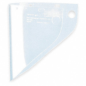 Faceshield Visor,Prpinate,Clr,9-3/4x19in