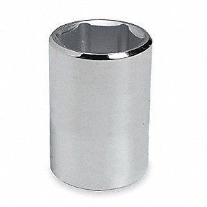 "19/32"" Alloy Steel Socket with 1/2"" Drive Size and Chrome Finish"