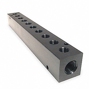Manifold,Metal,NPT,13-5/8 In. L