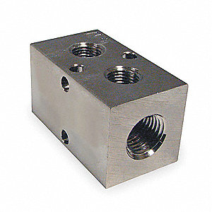 MANIFOLD,3/8 IN INLET,2 OUTLETS,ALU
