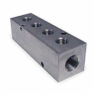 Manifold,Stainless Steel,NPT,3-7/8 In. L