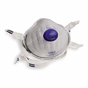 HONEYWELL NORTH P95 Disposable Particulate Respirator, Molded, Gray