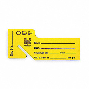 hpc key receipt slip blank key tag yellow pk100 2kka6 ot 100