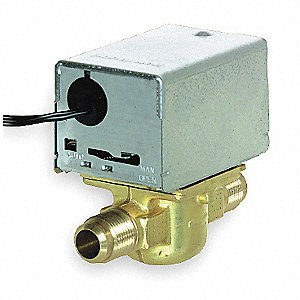 "Normally Closed Sweat 1/2 Motorized Zone Valve, 24VAC, 3.5Cv, 18"" Leads"