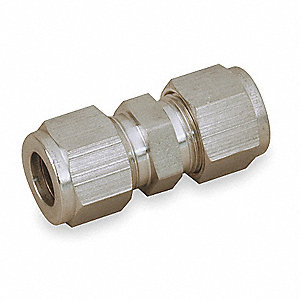 "Union, 3/4"" Tube Size, Metal, 1-1/16"" Hex Size"