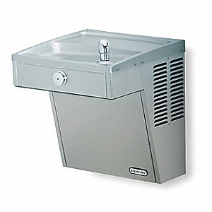 Stainless Steel Push Button Vandal Resistant Water Cooler, 8.0 gph