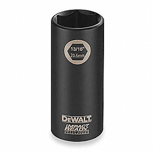 Impact Socket,1/2 In Dr,3/8 In,6 pt