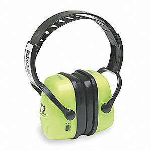 28dB Over-the-Head Ear Muff, Green&#x3b; ANSI S3.19-1974