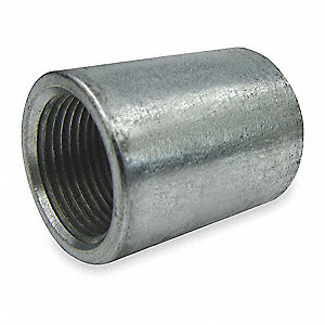 "Galvanized Steel Merchant Coupling, 1-1/2"" Pipe Size, FNPS Connection Type"