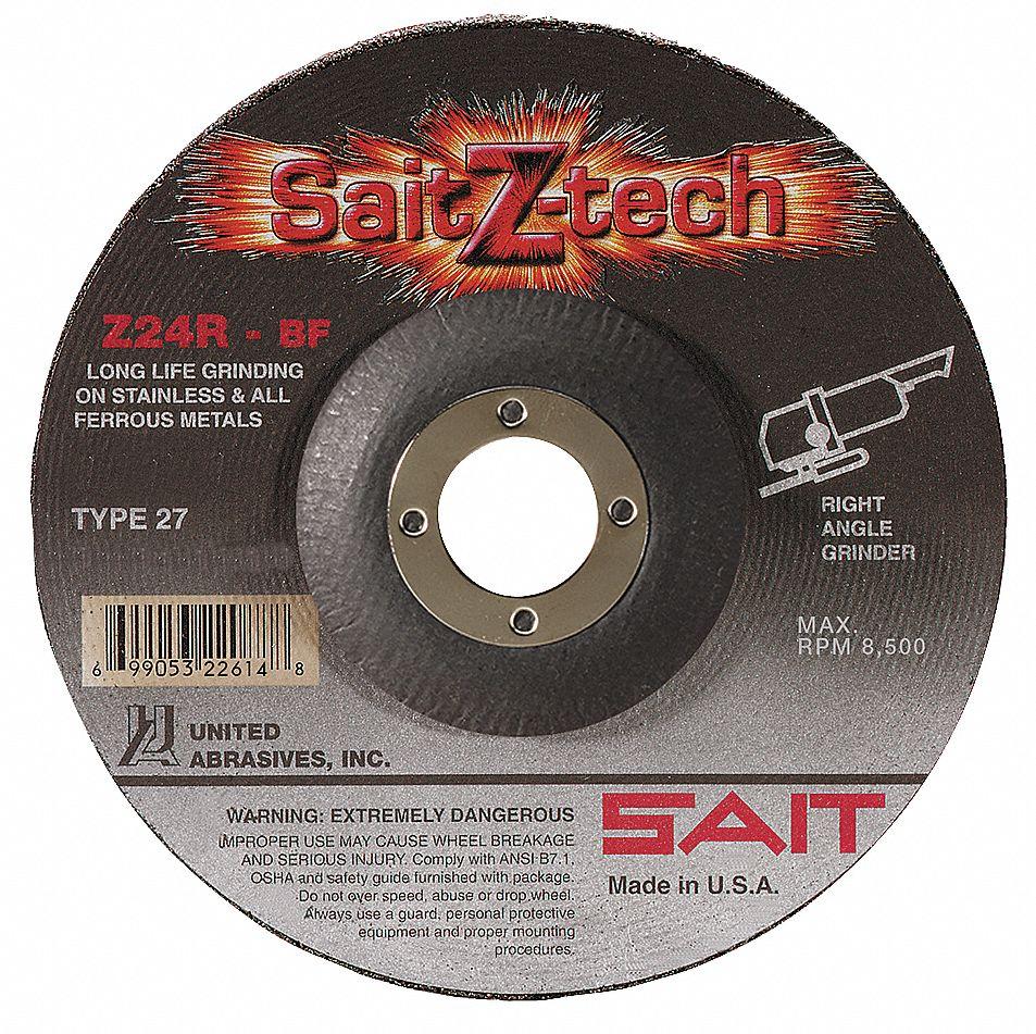 "Sait 22264 4-1//2/"" x 1//8/"" x 7//8/"" Stainless Cutting//Grinding Wheel"