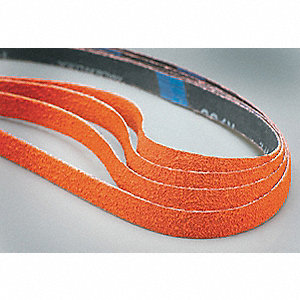"Sanding Belt, 20-1/2"" Length, 3/4"" Width, Ceramic, 40 Grit, Coarse, Coated, R980P Blaze, EA1"