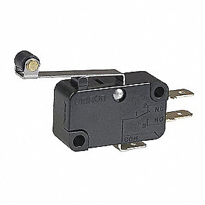 Miniature Snap Action Switch, SPDT Contact Form, 250VAC Voltage Rating, 15A Current Rating