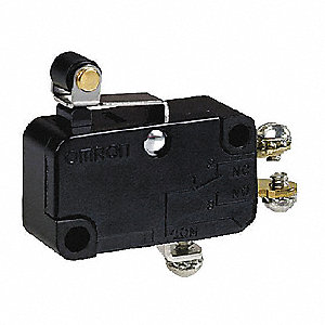 Miniature Snap Action Switch, SPDT Contact Form, 250VAC Voltage Rating, 10A Current Rating