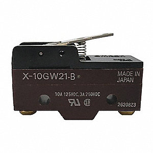 Snap Switch, SPDT Contact Form, 125VDC Voltage Rating, 10A Current Rating