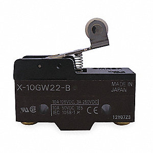 Industrial Snap Switch, SPDT Contact Form, 125VDC Voltage Rating, 10A Current Rating