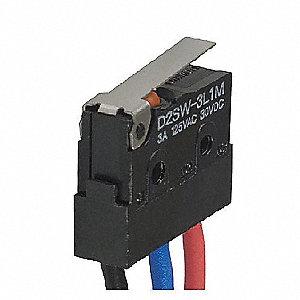 Miniature Sealed Snap Switch, SPDT Contact Form, 125/250VAC Voltage Rating