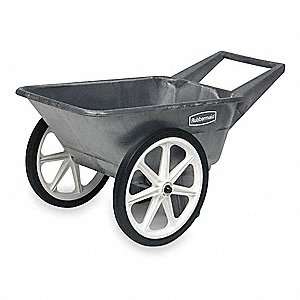 Big Wheel Cart, 1/8 cu. yd. Volume Capacity, 200 lb. Load Capacity, Heavy-Duty Hopper Type