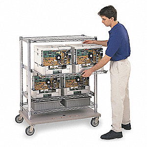 Wire Cart,28 In. W,43 In. L,Steel