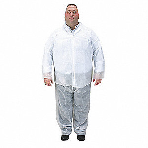Disposable Collared Shirt,White,4XL,PK25
