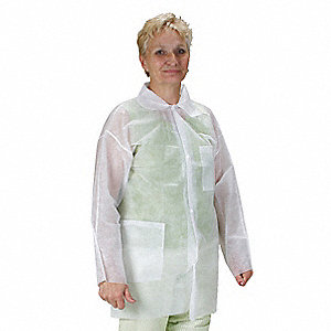 White Polypropylene Disposable Lab Coat, Size: 5XL