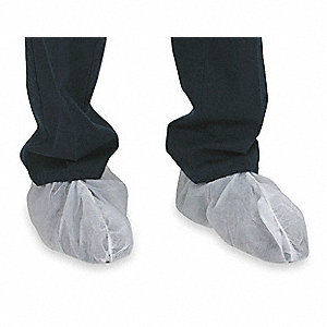 "Universal Shoe Covers, Slip Resistant Sole: No, Waterproof: No, 7"" Height"