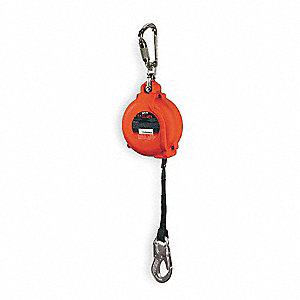 16 ft. Self-Retracting Lifeline with 400 lb. Weight Capacity, Red