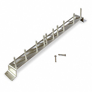Aluminum Aluminum Brush Rack, 1 EA