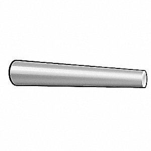 Free Cutting Steel Standard Taper Pin, 70mm L, 12mm Small End Dia.