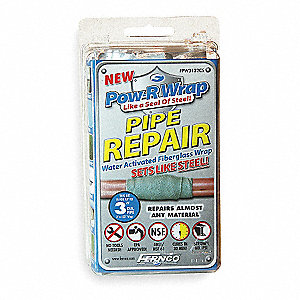 Fiberglass Repair Kit,3 x 132 In,Gray