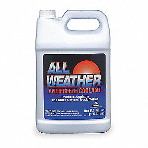 ALL WEATHER Antifreeze Coolant, 1 gal., Dilution Ratio ...