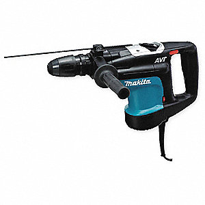 SDS Max Rotary Hammer Kit, 11 Amps, 1350 to 2750 Blows per Minute, 120 Voltage