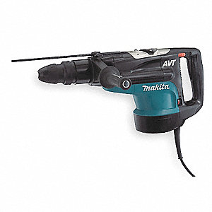SDS Max Rotary Hammer Kit, 15 Amps, 1075 to 2150 Blows per Minute, 120 Voltage